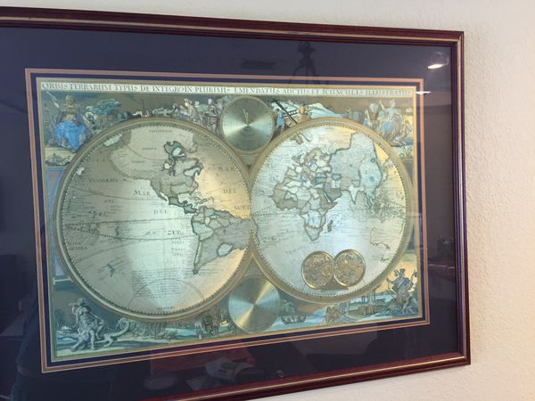 Bombay company double hemisphere foil old world map household in 300 gumiabroncs Gallery