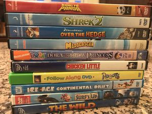 Lot of children dvds