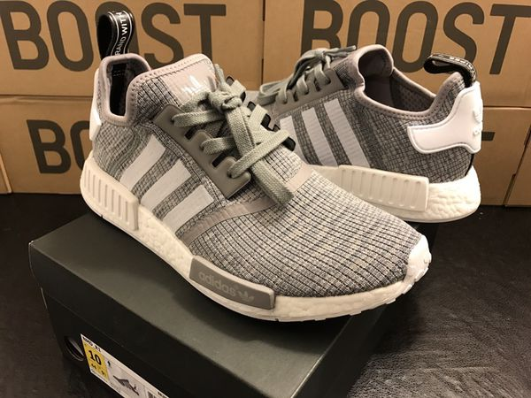 Adidas NMD R1 glitch camo gray! (Adidas outlets) on feet