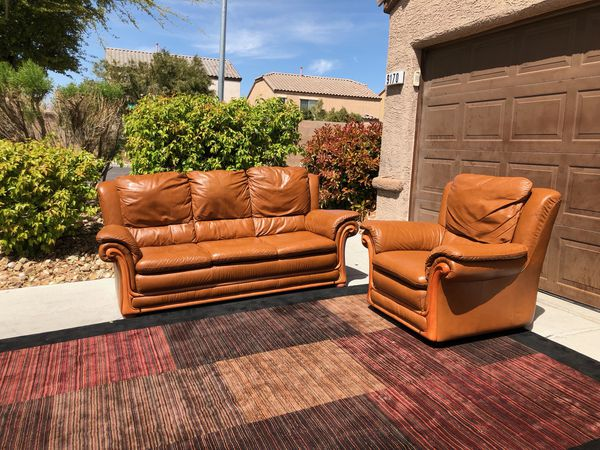 2 Piece Leather Living Room Set Furniture In Las Vegas Nv