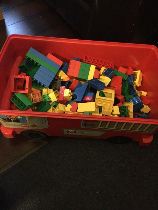 Huge lot of Lego Duplo with ride on car and 2 buckets  : 2c693f3cd298449686bcf0a2b2a567bc from offerupnow.com size 600 x 800 jpeg 61kB