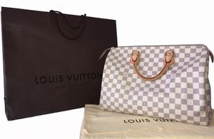 Authentic LOUIS VUITTON Damier Azur Speedy 35