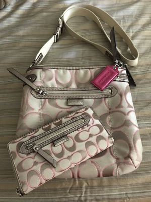 Coach messenger/cross body bag with wallet
