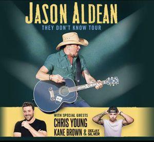 4 tickets to Jason Aldean at the Puyallup Fair!