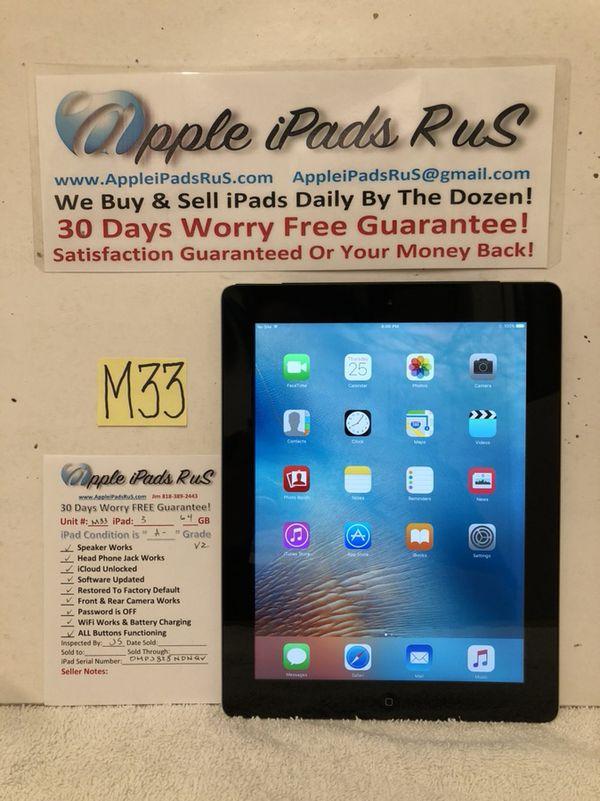M33 - iPad 3 64GB Cell-VZ