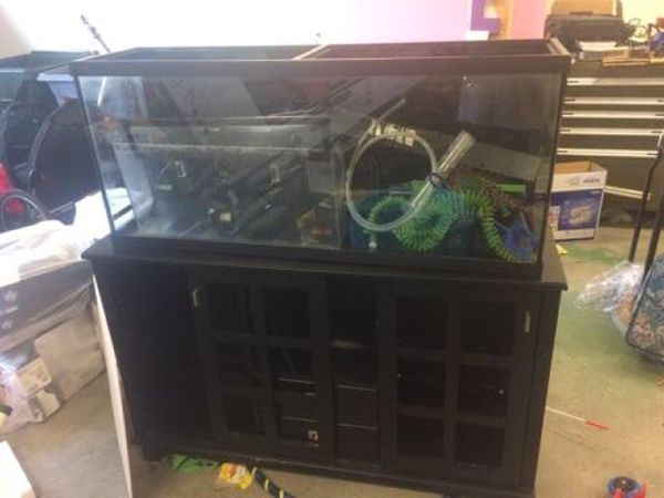 55 gallon aquarium fish tank with solid wood stand pet for 55 gallon fish tank stand for sale