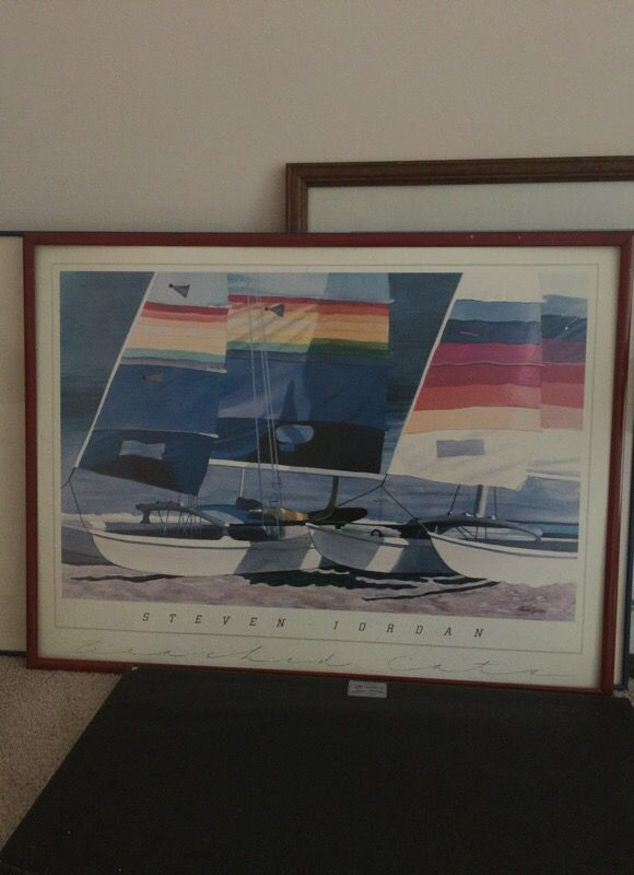 Sailing picture and frame