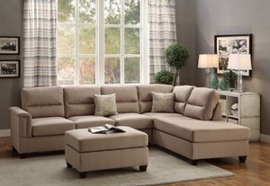 SAN FABRIC SECTIONAL SOFA SET
