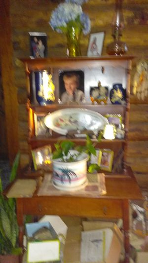Vintage Maple Hutch