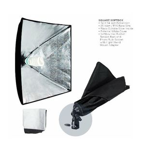 Square Softboxes with light bulbs