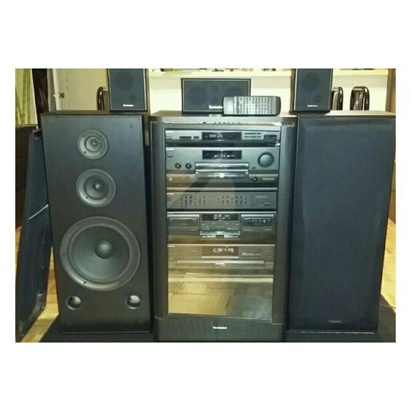 Sony Stereo Cabinet With Glass Doors