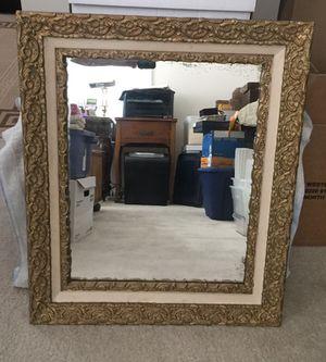 Antique gold frame mirror