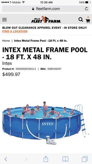 INTEX 18 x 48 Metal Frame SWIMMING POOL (Household) in Columbus, OH