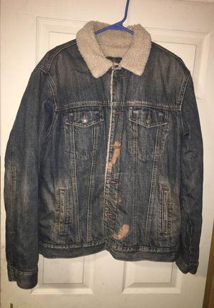 Gap Jean Jacket with Fur - Size M