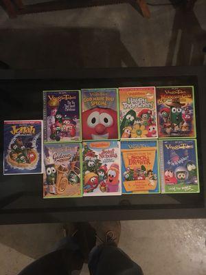 9 Veggie Tales DVDs