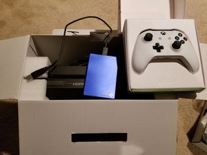 Xbox one 500gb, external 1tb, and controller