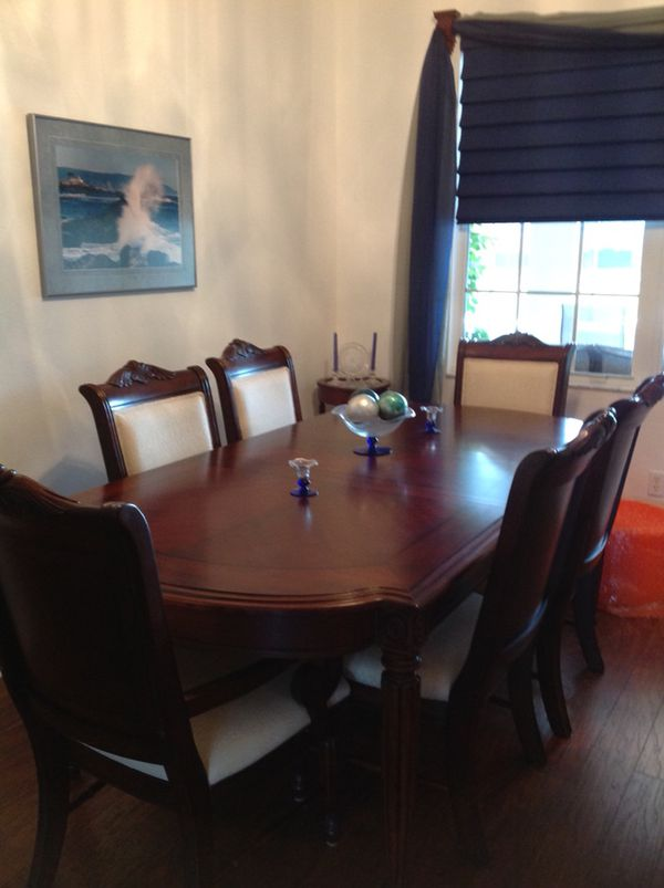 Broyhill Corbella Dining Room Set Table With Extra Leaf And Pads Six Chairs China Cabinet 1500 Or Best Reasonable Offer Furniture In Gainesville