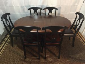 Brand New Cherry And Black Dining Table Set