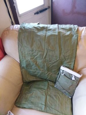 Sage green curtains L84 W42 for 2