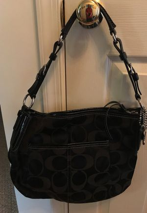 Authentic Coach Purse Black Leather