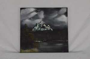 """Winter is coming (Oil on canvas 12"""" x 12"""")"""