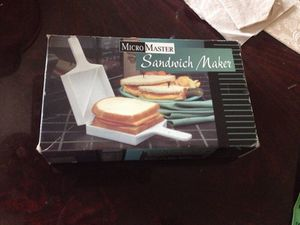 Microwave sandwich maker. New