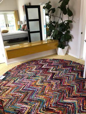 Round Rug Woven Cotton