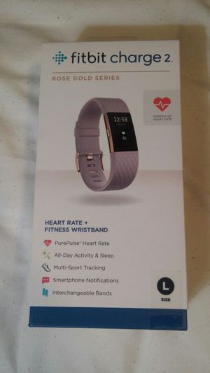 Fitbit Charge 2 Special Edition 22k Rose Gold/Lavender, Size L