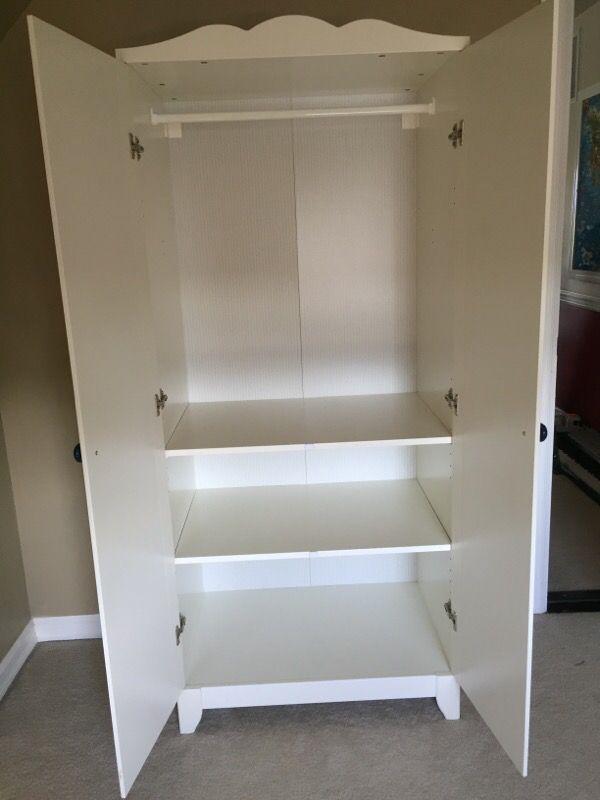 children 39 s wardrobe closet armoire white ikea hensvik