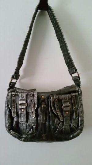 Small silver and black purse