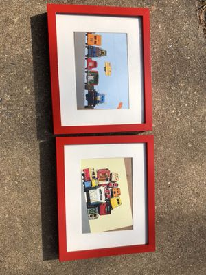 Two pictures framed transports