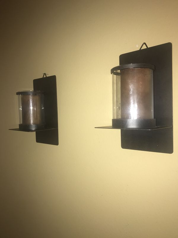 Metal wall decor candle holder set (Household) in Moreno Valley, CA ...