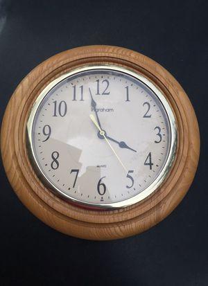 Wooden design clock by Ingraham