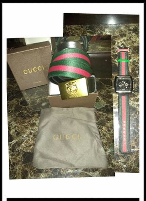 Gucci belt and watch