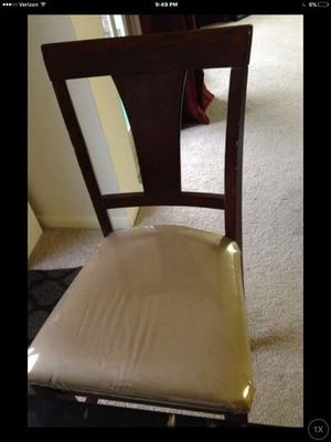 5 Tall dining wood chairs great condition