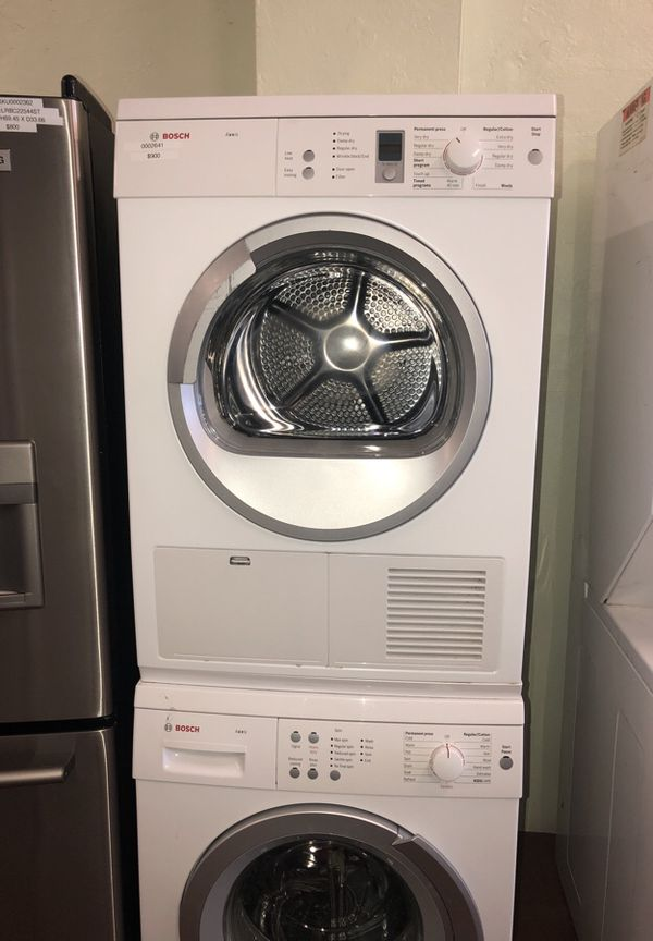 Bosch Stackable Washer Dryer Unit Appliances in San Jose CA