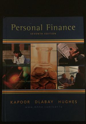 Text Book: Personal Finance by Kapoor Dlabay Hughes