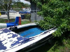 Towyard impound ref# $825 1974 Banshee boat hull Project boat no motor Calltxt3218379974 www.facebook/OcoeeDeals pickerstv.com
