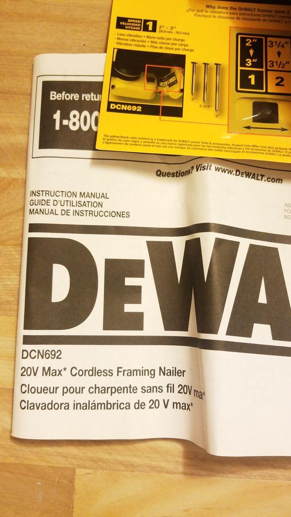 Asombroso Dewalt Framing Neumática Clavadora Cresta - Ideas de Arte ...
