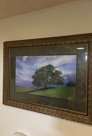 Large Gold Leaf Frame with Tree Photo