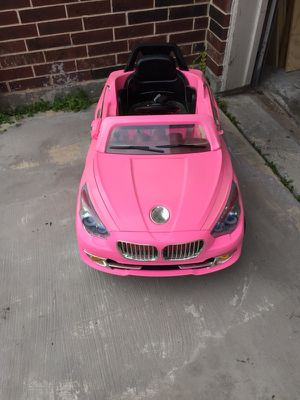Pink car with remote control