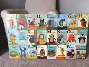 ABC canvas kids room high quality picture