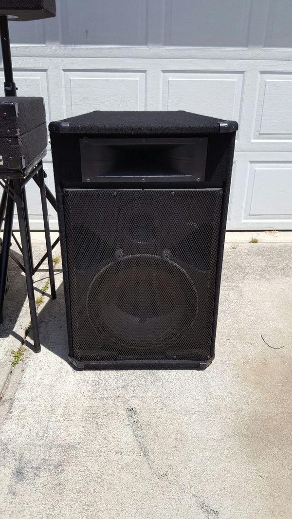 used dj speakers for sale peavey sp3g audio equipment in raleigh nc. Black Bedroom Furniture Sets. Home Design Ideas