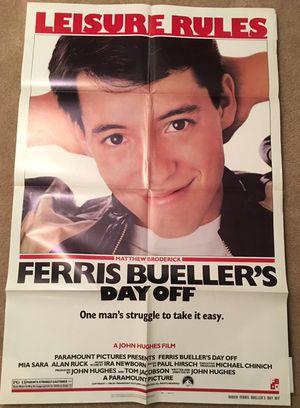 Original Ferris Bueller's Day Off Movie Poster
