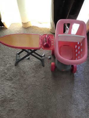 Ironstand,iron and baby cart