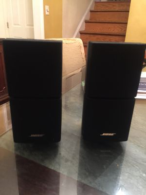 Bose double cubed speakers