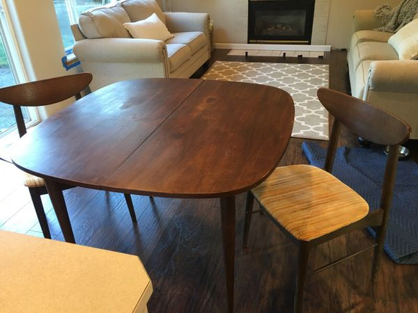 Mid Century Table And Chairs Furniture In Granite Falls Wa Offerup