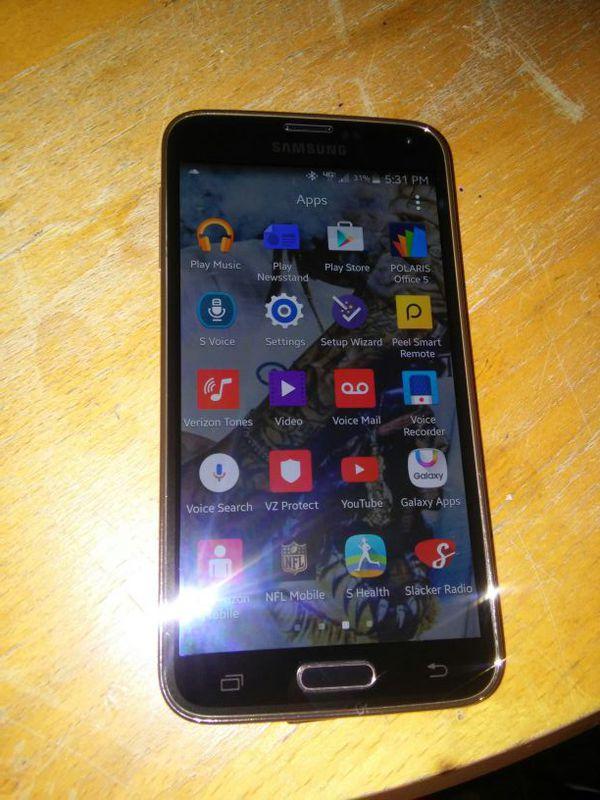 Unlocked verizon samsung galaxy s5 gold cell phones in federal way