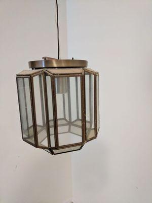 Brass lighting fixture.