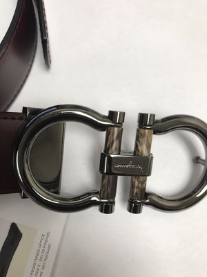 Black and brown reversible Ferragamo belts new